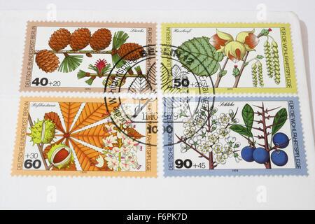 Ersten Tag Deutsche Deutsche Bundespost Berlin Briefmarken von 1979 - Stockfoto