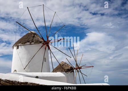 Windmühlen, Mykonos, Griechenland, Dienstag, 22. September 2015. - Stockfoto