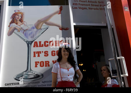 Heart Attack Grill Fremont St. Las Vegas Nevada, USA - Stockfoto