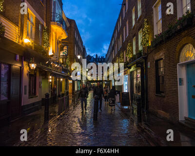 Carnaby Street Christmas lights - Stockfoto