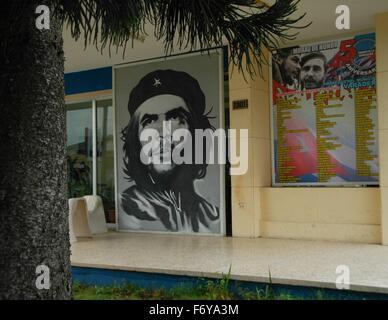 Gesehen sind Bilder von Che Guevara in Kuba - Stockfoto