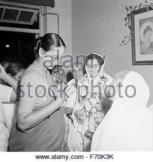 Dritte ehemaliger Premierminister Indira Gandhi, Indien, Asien - Stockfoto