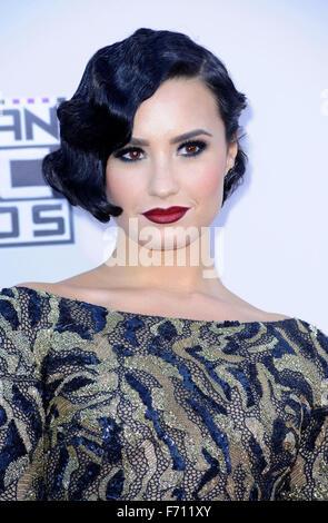 Los Angeles, USA. 22. November 2015. Demi Lovato bei 2015 American Music Awards statt im Microsoft-Theater in Los - Stockfoto