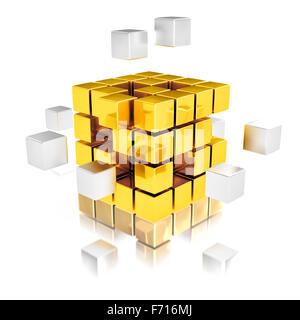 Teamarbeit Abstrace Konzept Stockfoto