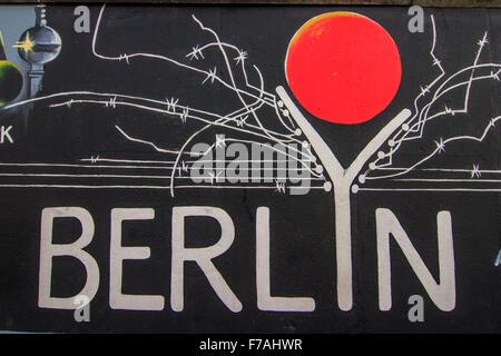 Berlin: Die East Side Gallery - Stockfoto