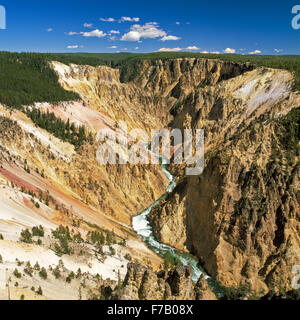 Grand Canyon des Yellowstone River im Yellowstone-Nationalpark, wyoming - Stockfoto