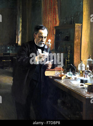 Frankreich FrenchLouis Pasteur 1885 Albert Edelfelt 1854-1905 Finnland Frankreich Französisch (Louis Pasteur 1822 - Stockfoto