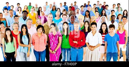 Vielfalt große Gruppe von Menschen multiethnischen Konzept - Stockfoto