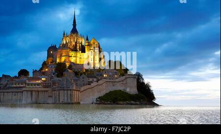 Mont Saint Michel, Normandie, Frankreich - Stockfoto