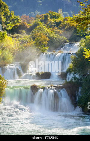 Krka Wasserfälle, Nationalpark Krka, Kroatien, Europa - Stockfoto