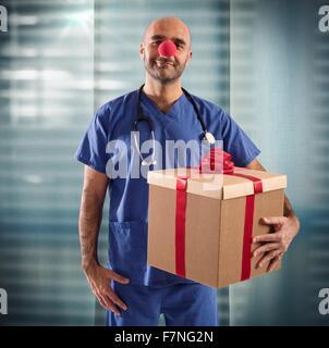 Krankenschwester-clown - Stockfoto