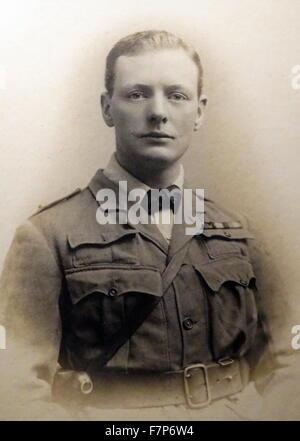 Sir Winston Churchill, (30. November 1874 – 24. Januar 1965) als Offizier in der South African Light Horse. 1899. - Stockfoto