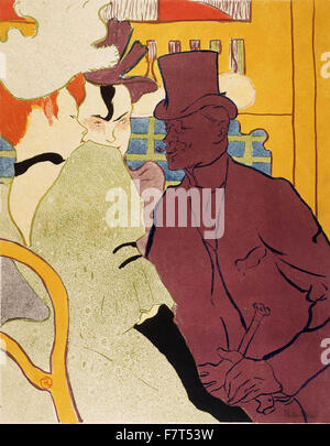 Henri de Toulouse-Lautrec-Flirt (ein Engländer im Moulin Rouge) - Stockfoto