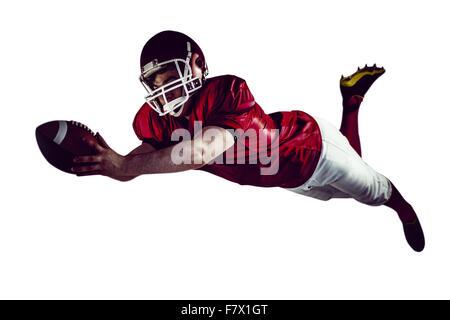 American Football-Spieler, erzielte einen touchdown - Stockfoto
