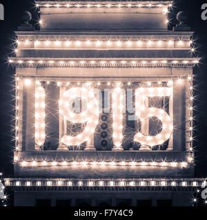 Ferry Building 1915 Lichter in der Nacht in San Francisco, Kalifornien, USA - Stockfoto