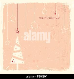 Grunge Hintergrund mit Weihnachtsbaum - Stockfoto
