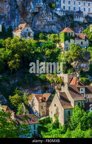 Rocamadour, Lot, Midi-Pyrenäen, Frankreich - Stockfoto