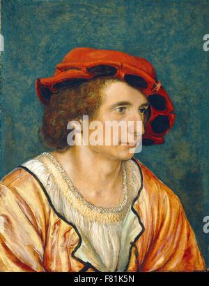 Hans Holbein der jüngere - Porträt eines jungen Mannes - Stockfoto