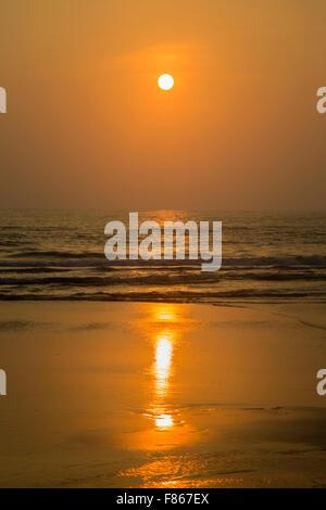 Sonnenuntergang in Agonda, Goa, Indien - Stockfoto