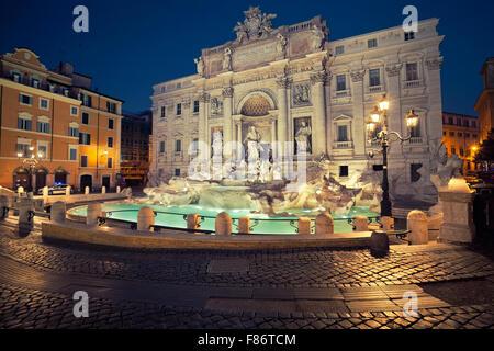 Rom. Bild des berühmten Trevi-Brunnen in Rom, Italien. - Stockfoto