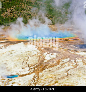 Grand prismatische Frühling im Yellowstone-Nationalpark, wyoming - Stockfoto