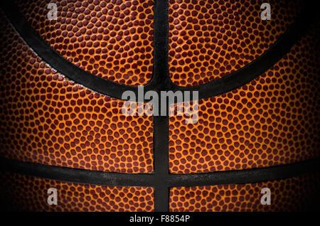 Nahaufnahme eines Basketball-Balls - Stockfoto
