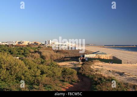 Praia da Falésia, Vilamoura, Quarteira, Algarve, Portugal, Europa - Stockfoto