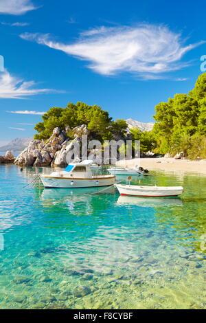 Brela, Makarska Riviera, Kroatien, Europa - Stockfoto