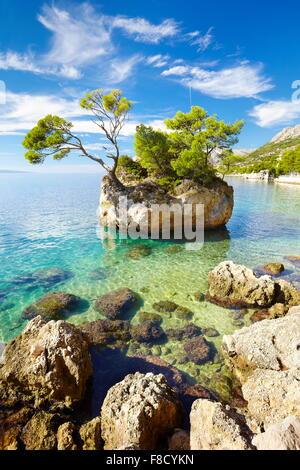Brela, Makarska Riviera Landschaft, Kroatien, Europa - Stockfoto