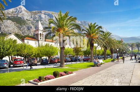 Dorf von Makarska, Makarska Riviera - Kroatien - Stockfoto
