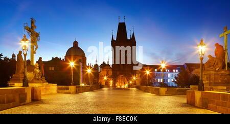 Karlsbrücke, Altstadt von Prag, Tschechische Republik, UNESCO - Stockfoto