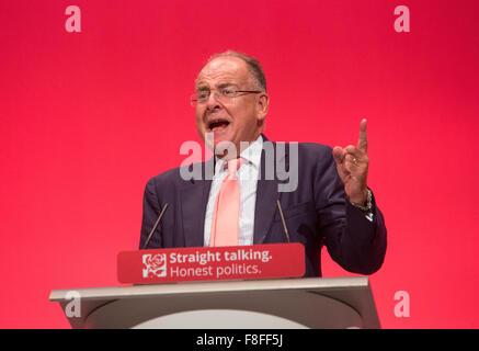 Lord Falconer of Thoroton, Schatten Staatssekretär für Justiz Shadow Lord Chancellor, spricht auf der Konferenz - Stockfoto