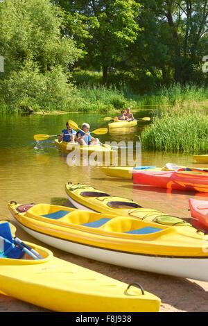 Krutynia-River-rafting, Masuren, Polen, Europa - Stockfoto