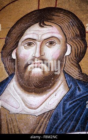 Porträt von Christus Pantokrator eine byzantinische Mosaik in der Kirche und byzantinisches Kloster Hosios Loukas - Stockfoto