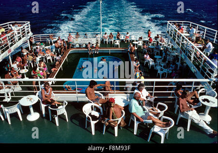 bootsdeck f hre ancona patras stockfoto bild 11009358 alamy. Black Bedroom Furniture Sets. Home Design Ideas