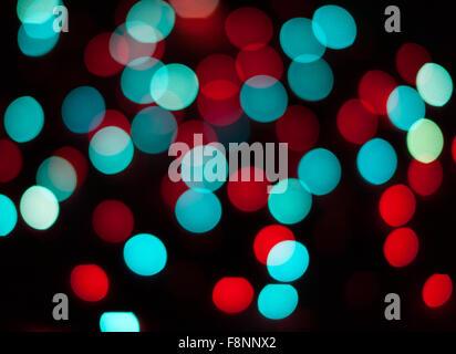 Defokussierten Weihnachtsbeleuchtung. Neue Jahr Bokeh. Zusammenfassung Hintergrund für Ferien-design - Stockfoto