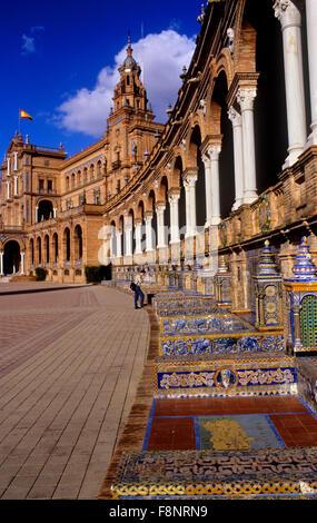 España-Platz. Sevilla, Andalusien, Spanien. - Stockfoto