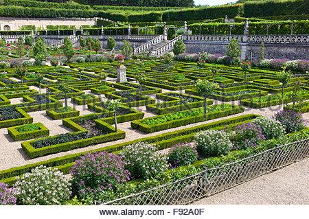 Chateau de villandry ornamentalen gem se garten loiretal touraine stockfoto bild 18130751 alamy - Gemuse im garten ...