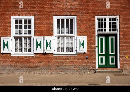 Historische Fassade im holländischen Viertel in Potsdam - Stockfoto