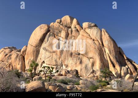 Felsformationen, Joshua Tree Nationalpark, Kalifornien USA - Stockfoto