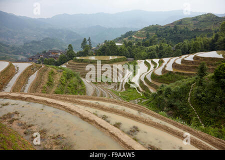 Longsheng Reisterrassen, China - Stockfoto