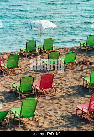 Griechenland - am Strand von Agios Georgios, Corfu - Stockfoto