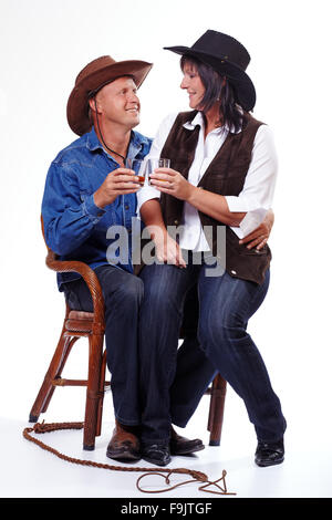 Ein Cowboy Liebespaar - Stockfoto