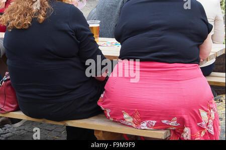 zwei fette frauen sitzen auf einer bank stockfoto bild 72790348 alamy. Black Bedroom Furniture Sets. Home Design Ideas
