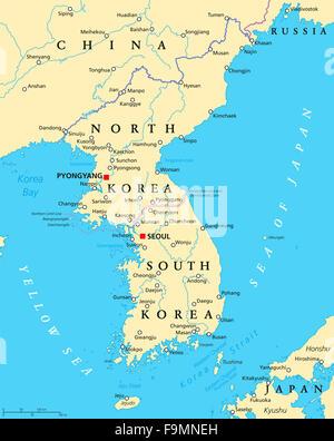 japan korea nord korea karte atlas karte von welt tokio illustration vektor abbildung. Black Bedroom Furniture Sets. Home Design Ideas