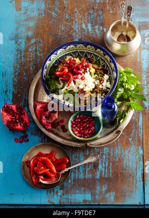 Taboulé mit braten Pfeffer - Stockfoto