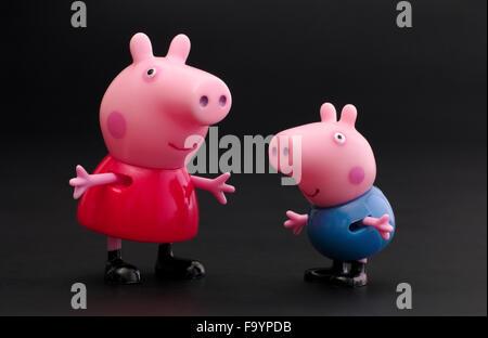 Tambow Russische Föderation 16 Dezember 2015 Peppa Pig George