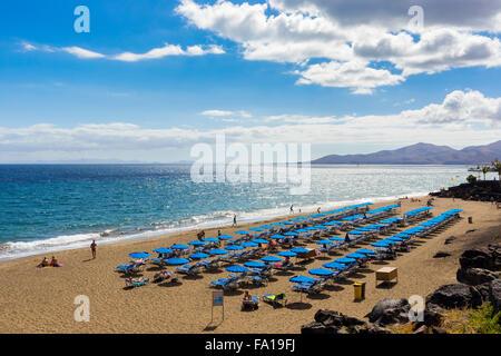 Playa Grande, Puerto del Carmen, Lanzarote, Kanarische Inseln, Spanien, Süd-Europa - Stockfoto