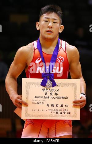 Tokio, Japan. 21. Dezember 2015. Nd Yoyogi Gymnasium, Tokio, Japan. 21. Dezember 2015. Shoga Takahashi, 21. Dezember - Stockfoto