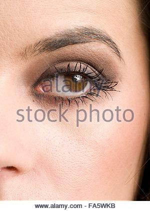 Close Up, close-up, Closeup, einer jungen Frau Auge - Stockfoto